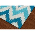 Dalyn Aloft Aqua 9'X13' Rug