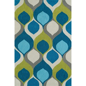 Dalyn Aloft Teal 9'X13' Rug