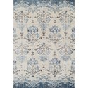 """Dalyn Antigua Blue 3'3""""X5'3"""" Area Rug - Item Number: AN11BL3X5"""