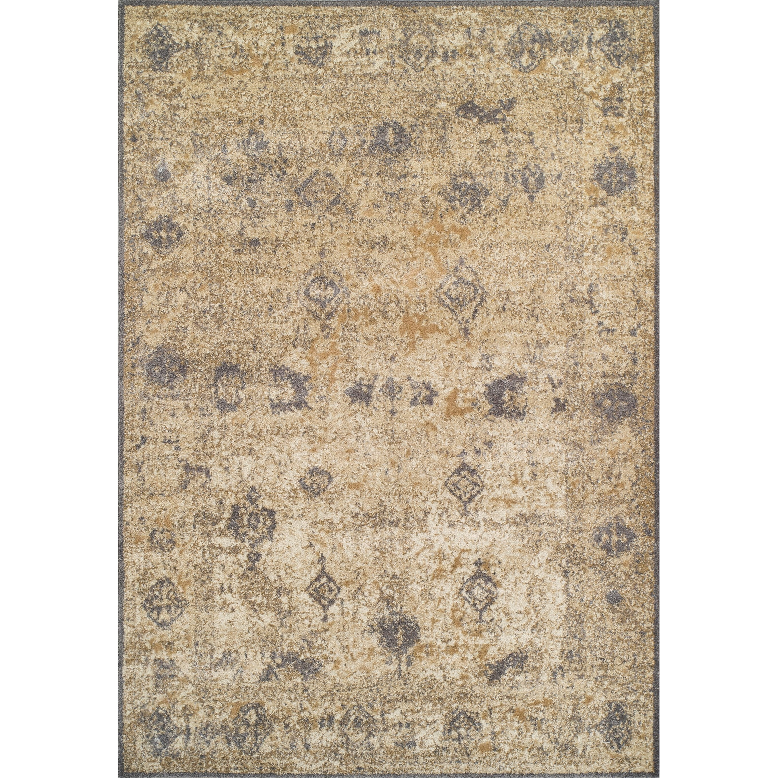 "Antiquity Ivory / Grey 5'3""X7'7"" Rug by Dalyn at Darvin Furniture"