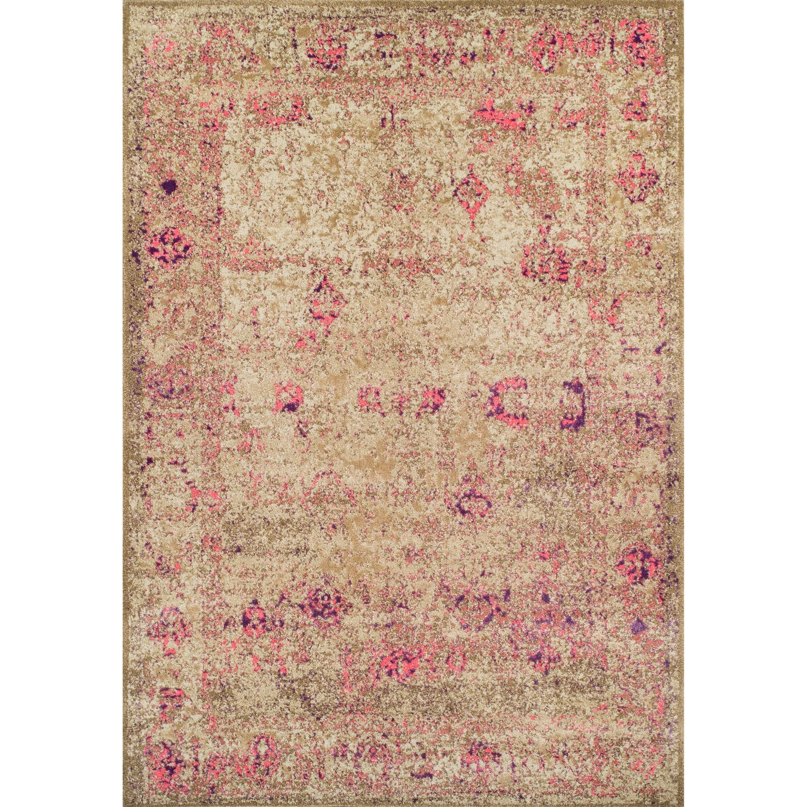 "Dalyn Antiquity Ivory / Pink 5'3""X7'7"" Rug - Item Number: AQ1PI5X8"