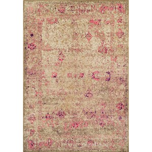 "Dalyn Antiquity Ivory / Pink 5'3""X7'7"" Rug"