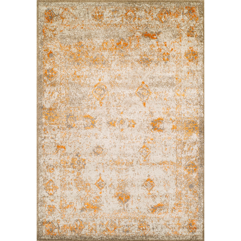 "Dalyn Antiquity Ivory / Tangerine 5'3""X7'7"" Rug - Item Number: AQ1TA5X8"