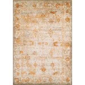 "Dalyn Antiquity Ivory / Tangerine 7'10""X10'7"" Rug"