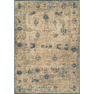 "Dalyn Antiquity Ivory / Teal 7'10""X10'7"" Rug"