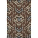 "Dalyn Cabana Chocolate 3'6""X5'6"" Rug - Item Number: CN2CH4X6"