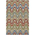 "Dalyn Cabana Multi 5'X7'6"" Rug - Item Number: CN4MU5X8"