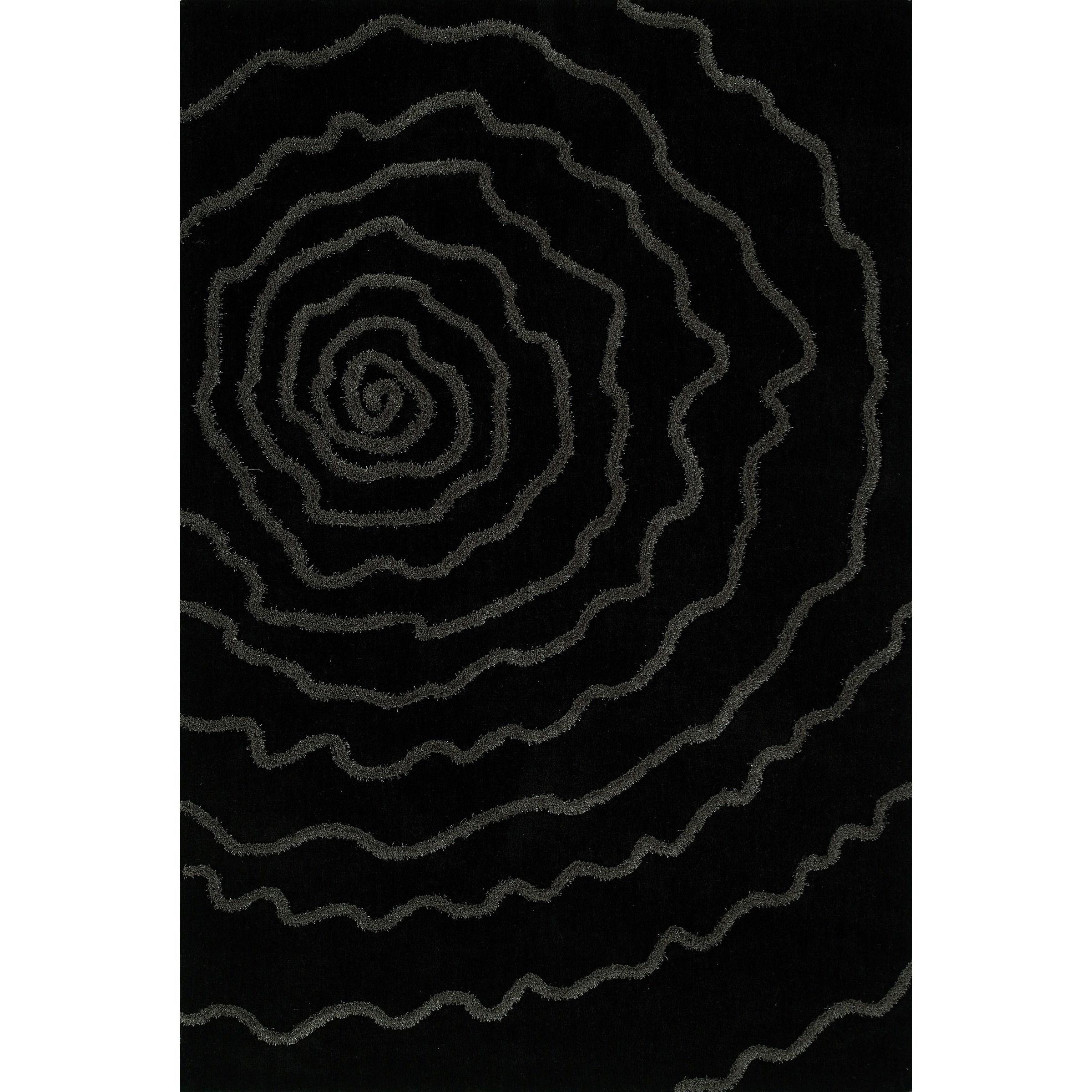 """Black 3'6""""X5'6"""" Area Rug"""