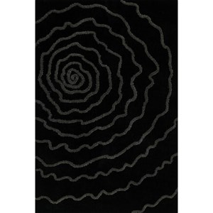 "Dalyn Dakota Black 5'X7'6"" Area Rug"