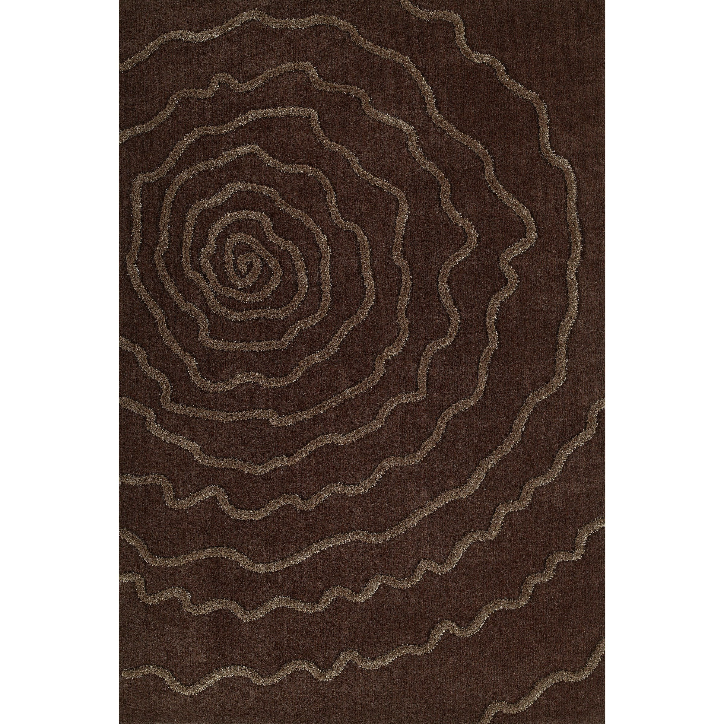 "Chocolate 5'X7'6"" Area Rug"