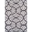 "Dalyn Finesse Pewter 4'11""X7' Rug - Item Number: FN202PE5X7"