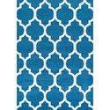 "Dalyn Finesse Teal 4'11""X7' Rug - Item Number: FN960TE5X7"