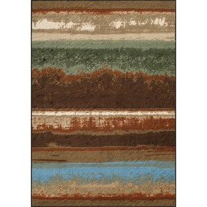 "Chocolate 4'11""X7'4"" Area Rug"