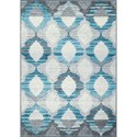 "Dalyn Horizons Tin 4'11""X7'4"" Area Rug - Item Number: HZ15TI5X7"