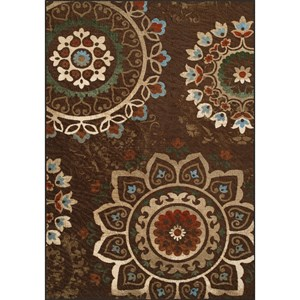 "Chocolate 8'2""X10' Area Rug"