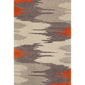 "Dalyn Impulse Orange 3'6""X5'6"" Rug"