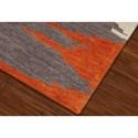 Dalyn Impulse Orange 9'X13' Rug