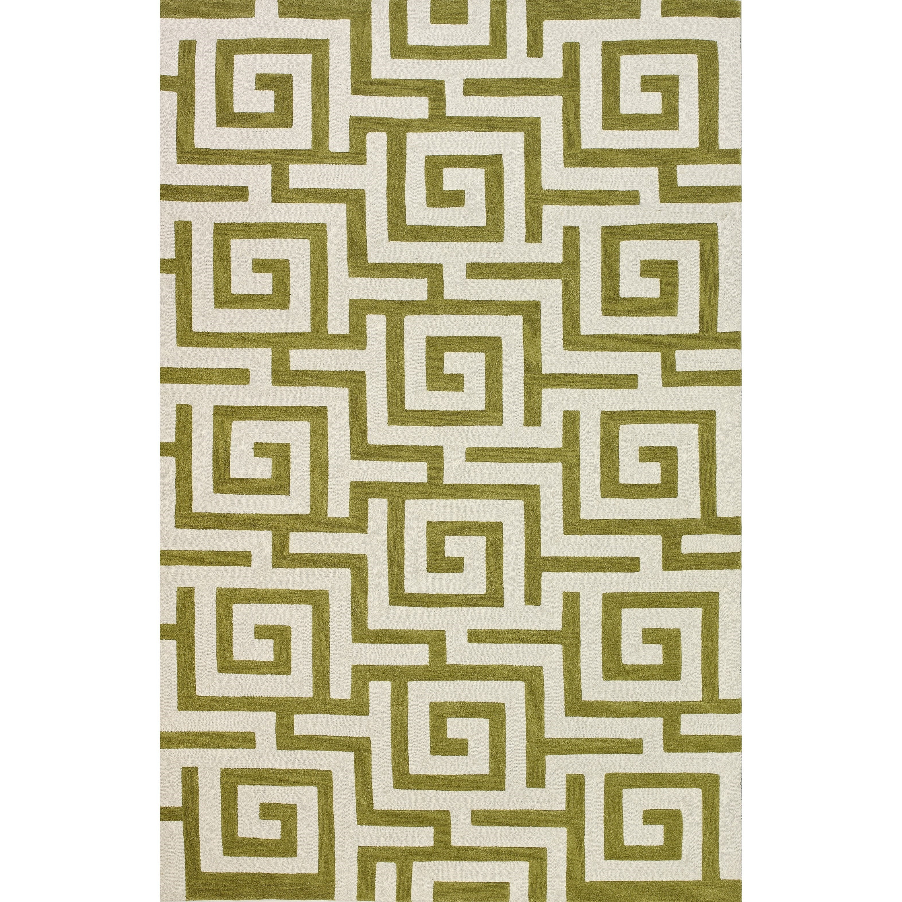 """Dalyn Infinity Citron 3'6""""X5'6"""" Rug - Item Number: IF1CI4X6"""