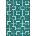 "Dalyn Infinity Peacock 3'6""X5'6"" Rug - Item Number: IF4PC4X6"