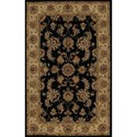 "Dalyn Jewel Black 3'6""X5'6"" Rug - Item Number: JW1787BK4X6"