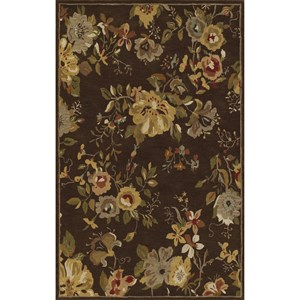 "Dalyn Jewel Chocolate 3'6""X5'6"" Rug"