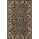 "Dalyn Jewel Spa Blue/Ivory 3'6""X5'6"" Rug - Item Number: JW31SB-IV4X6"
