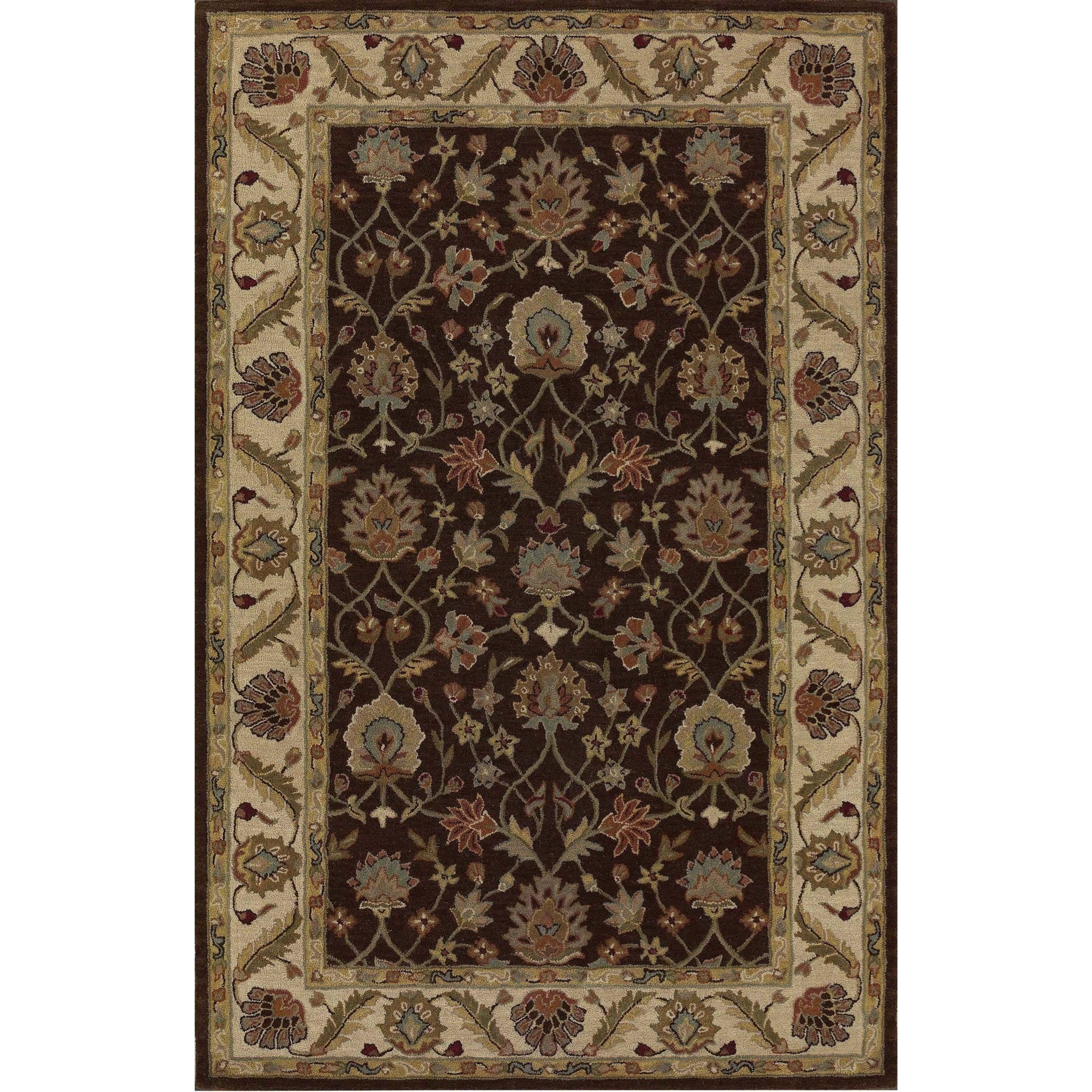 "Dalyn Jewel Chocolate / Ivory 2'3""X8' Rug Runner - Item Number: JW33CH-IV2X8"