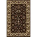 Dalyn Jewel Chocolate / Ivory 8'X10' Rug - Item Number: JW33CH-IV8X10