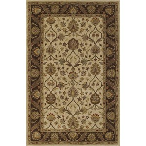 "Dalyn Jewel Ivory/Chocolate 2'3""X8' Rug Runner"