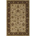 "Dalyn Jewel Ivory/Chocolate 3'6""X5'6"" Rug - Item Number: JW33IV-CH4X6"