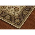 Dalyn Jewel Ivory/Chocolate 5'X8' Rug