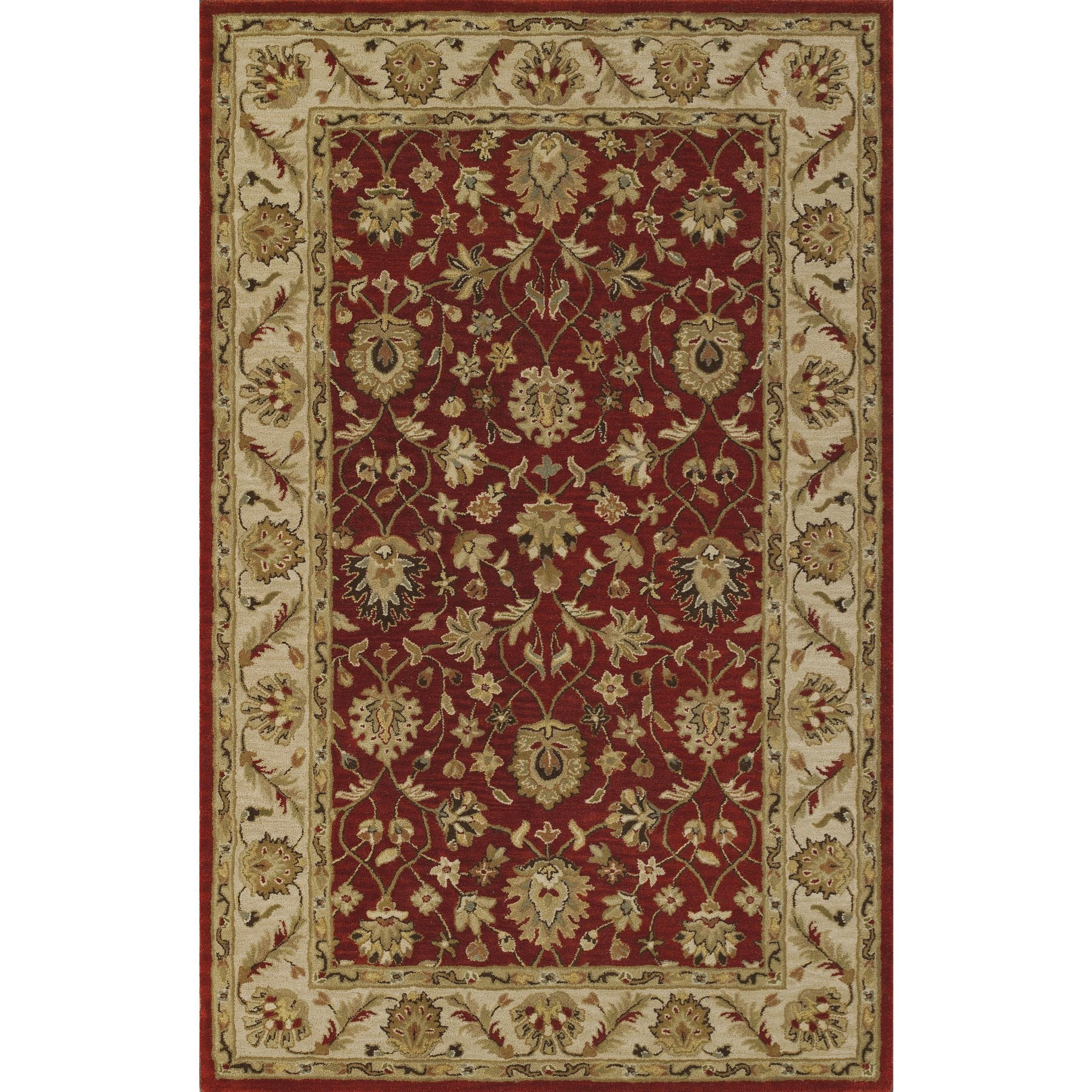 "Dalyn Jewel Salsa/Ivory 2'3""X8' Rug Runner - Item Number: JW33SA-IV2X8"