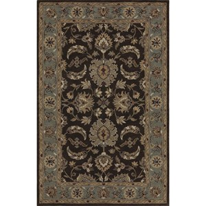 "Dalyn Jewel Chocolate/Spa Blue 3'6""X5'6"" Rug"