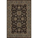 "Dalyn Jewel Chocolate/Spa Blue 3'6""X5'6"" Rug - Item Number: JW37CH-SB4X6"