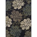 "Dalyn Marcello Black 4'11""X7' Rug - Item Number: MO612BK5X7"
