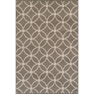 "Taupe 4'11""X7' Rug"