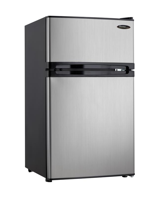 Danby Compact Refrigerators Dual Door Compact Fridge - Item Number: DCR031B1BSLDD