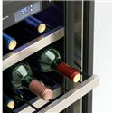 Danby Silhouette 2.5 Cu. Ft. Silhouette Series Wine Cooler with 27 Bottle Capacity - Stores Wine in an Optimal Environment for Longevity