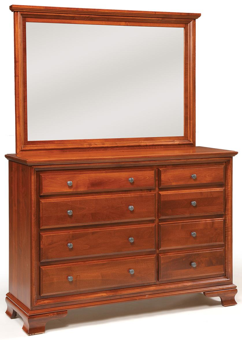 Classic Triple Dresser & Mirror by Daniel's Amish at H.L. Stephens