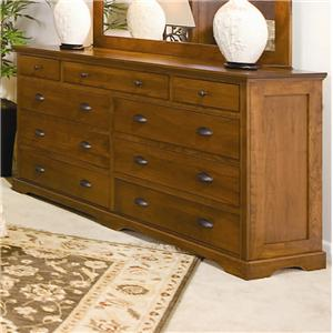 Daniel's Amish Elegance 9-Drawer Double Dresser