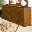 Daniel's Amish Elegance 9-Drawer Double Dresser - Item Number: 35-3559