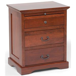 Daniel's Amish Elegance 3-Drawer Nightstand with Pullout Shelf