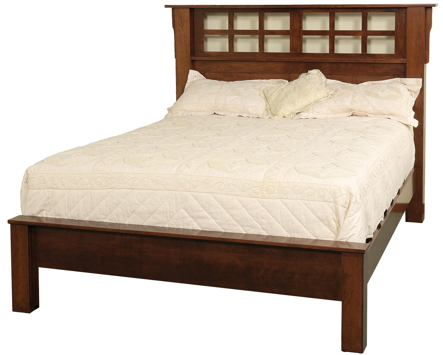 Daniel 39 S Amish Arts And Crafts California King Solid Wood Frame Bed With Low Profile Footboard