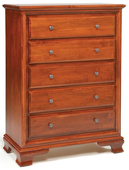 Classic 5-Drawer Chest by Daniel's Amish at Lapeer Furniture & Mattress Center