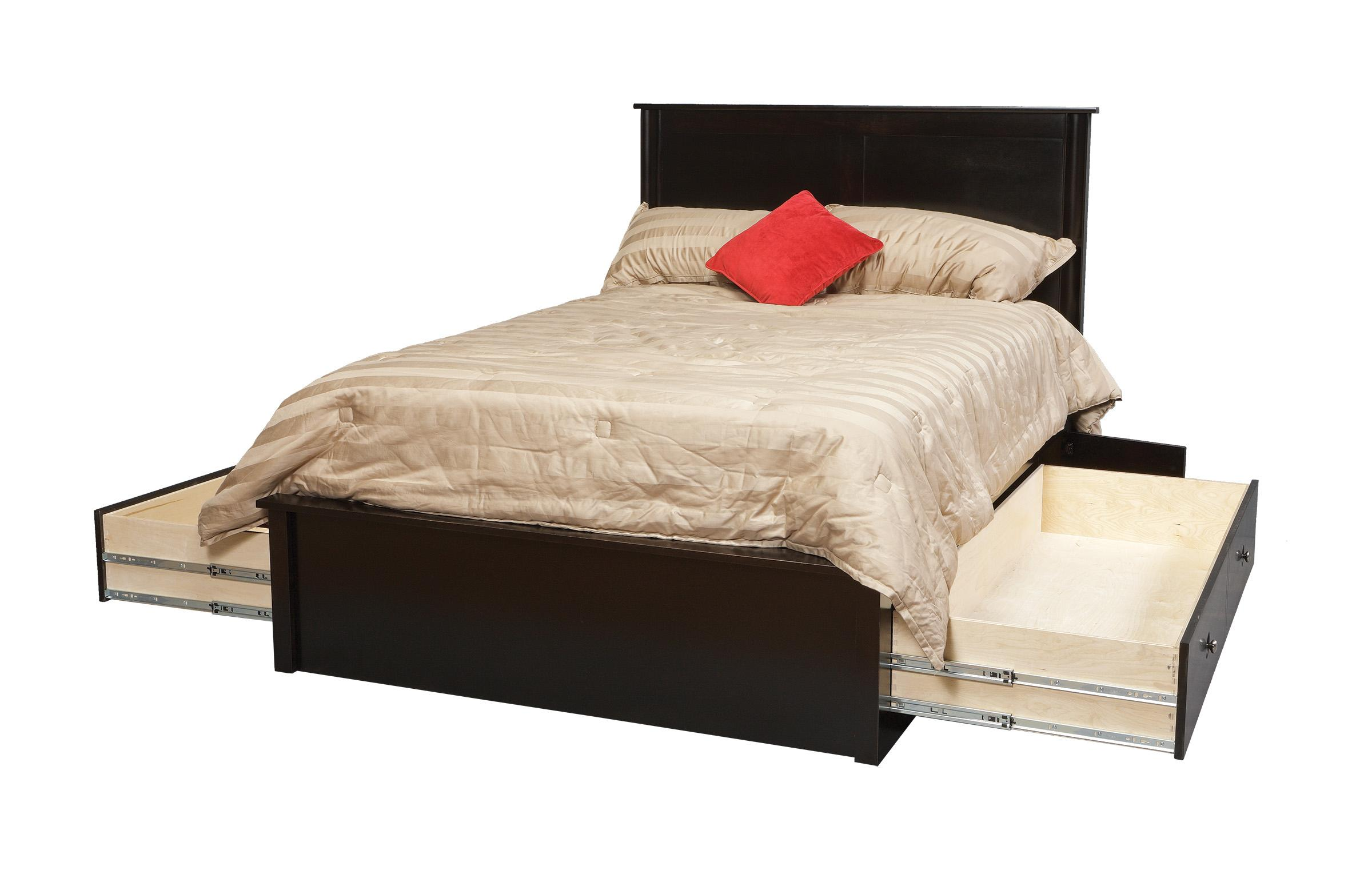 King Pedestal Bed W/ Storage Drawers