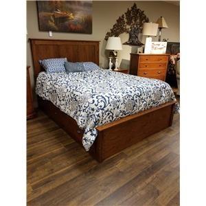 Queen Pedestal Bed W/ Storage Drawer