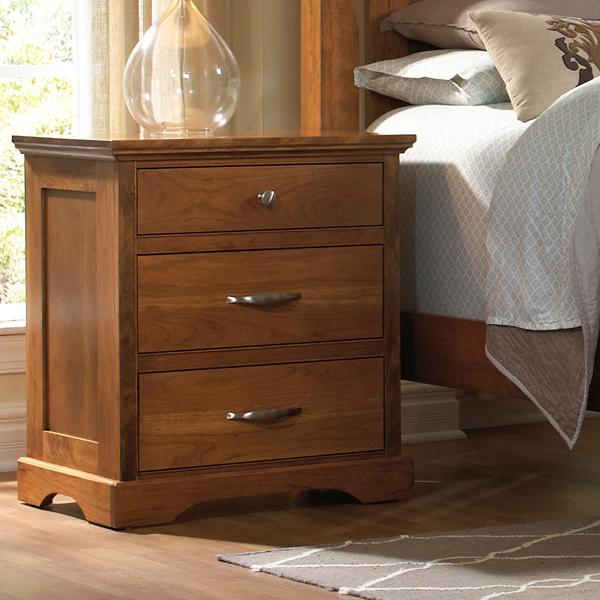Daniel's Amish Elegance 3-Drawer Nightstand - Item Number: 37-3513
