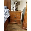 Daniel's Amish Elegance 3-Drawer Nightstand - Item Number: 37-3513