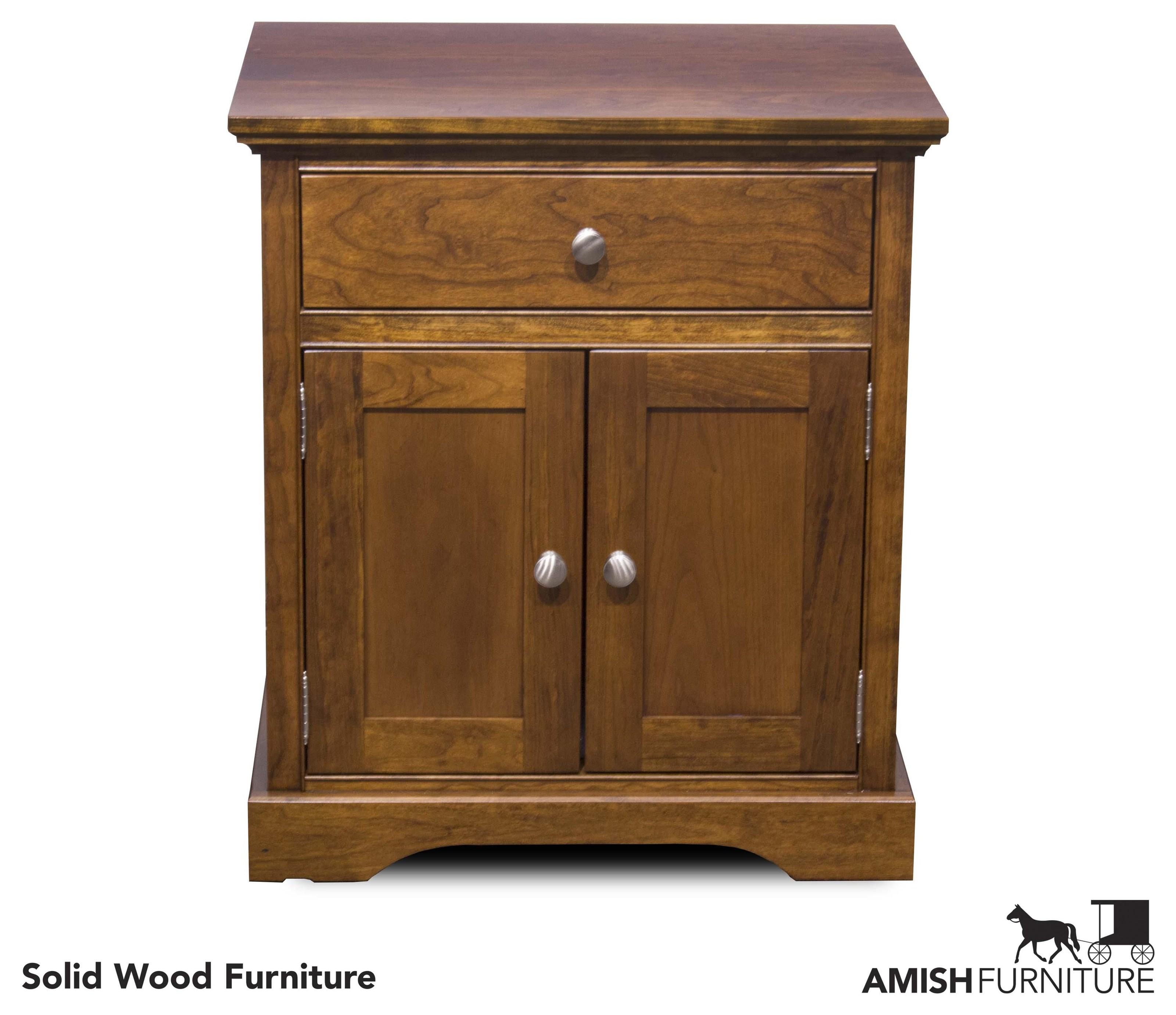Daniel's Amish Elegance 2 Door Night Stand - Item Number: B1787-21N