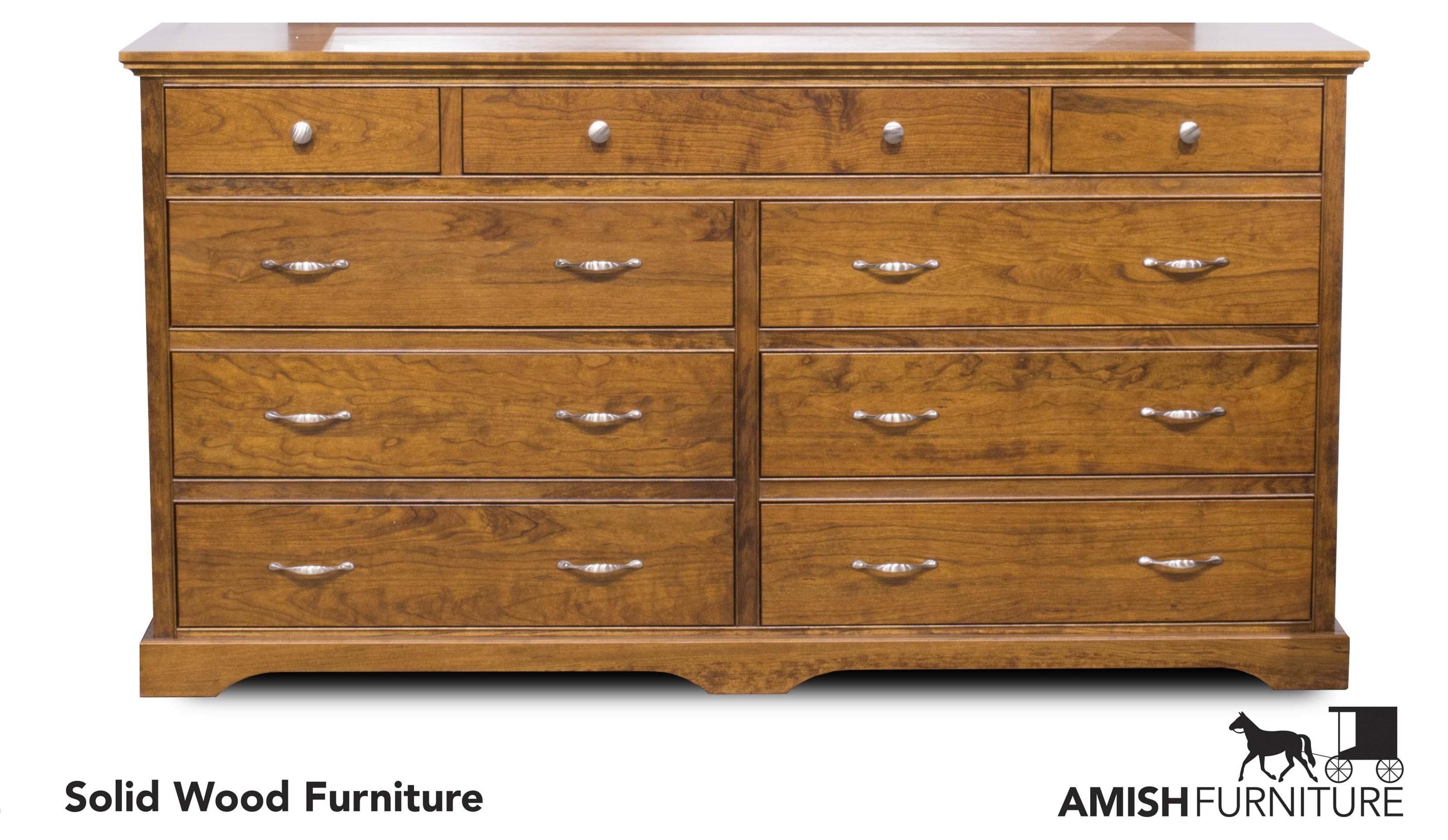 Daniel's Amish Elegance 9 Drawer Dresser - Item Number: B1787-9D